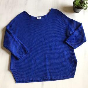 Old Navy royal blue knit sweater